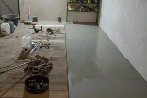 Наливной пол для гаража – особенности